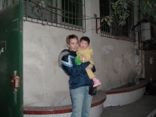 Little Soph and mom, just outside her orphanage and just before we whisked her away, onto the bus and back to the hotel.